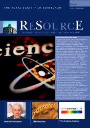 MAY 2003 - The Royal Society of Edinburgh