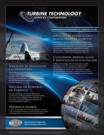 Sistemas de Control de Turbinas - Turbine Technology Services