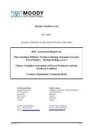 Public comment draft report (SFA 1) - Marine Stewardship Council