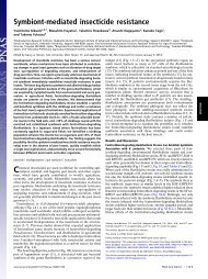 Symbiont-mediated insecticide resistance