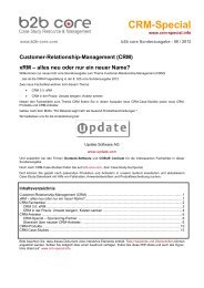 b2b core Marketing- und Sales-Pakete - CRM-Special