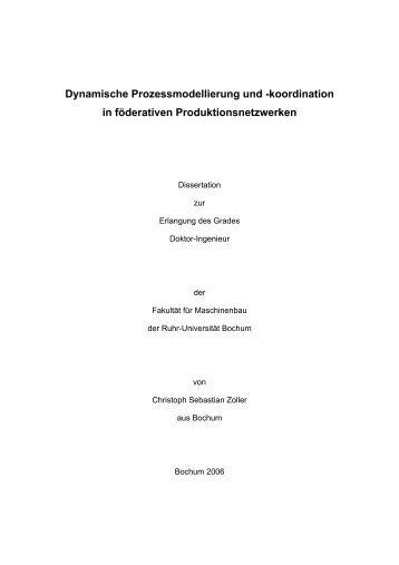 Dynamische Prozessmodellierung und - Ruhr-Universität Bochum