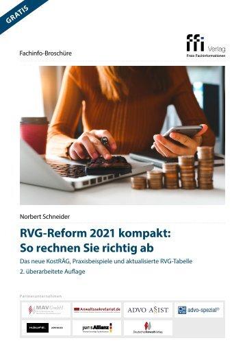 RVG-Reform 2021 kompakt: So rechnen Sie richtig ab