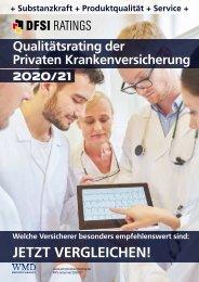 DFSI Ratings - Qualitätsrating der Privaten Krankenversicherung 2020 / 21