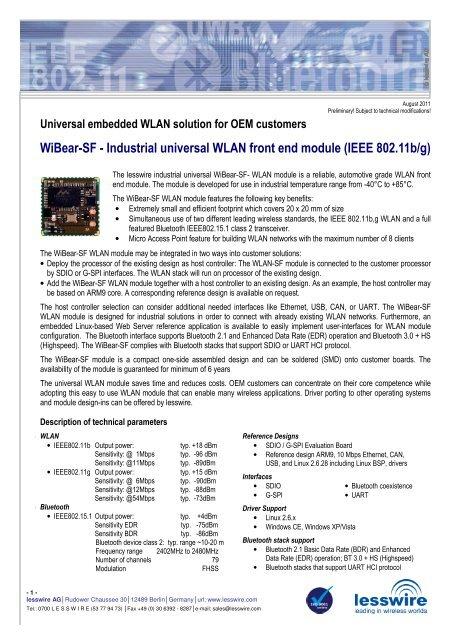 WiBear-SF engl_v1 03 - lesswire AG