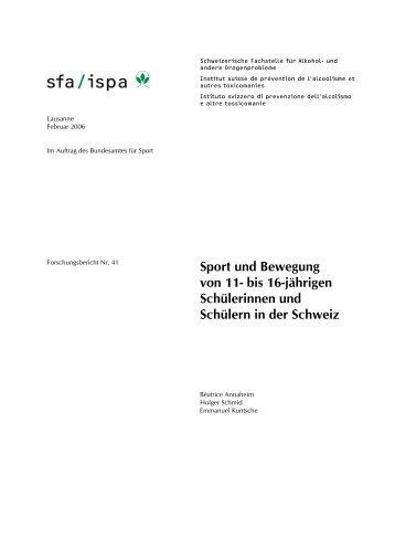 Sport und Bewegung von 11- bis 16-jährigen Schülerinnen und ...