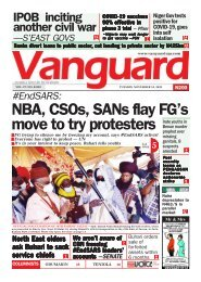 10112020 - NBA, CSOs, SANs flay FG's move to try protesters