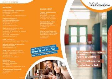 Flyer - Suchtprävention Zürcher Unterland