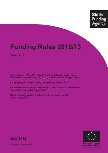 Funding Rules 2012/13 - Version 3 - lsc.gov.uk