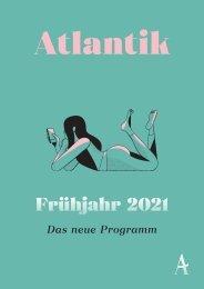 Atlantik Verlag Vorschau Frühjahr 2021