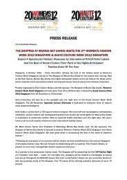 PRESS RELEASE - Marina Bay Sands