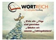 Empfehlungskatalog der Buchhandlung WortReich 2020