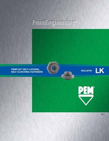 pemflex® self-locking, self-clinching fasteners ... - PennEngineering