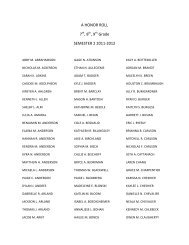 A Honor Roll SM2 2011-2012