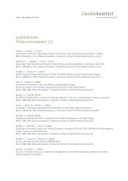 publikationen Diskussionspapiere (1) - Claudia Kemfert