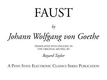 Johann Wolfgang von Goethe - Pennsylvania State University