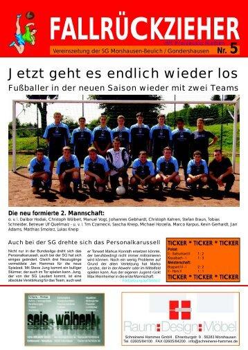 fallrueckzieher 5 einzelblatt - SV Morshausen-Beulich e.V. 1967