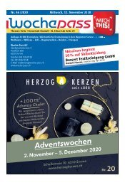 Woche-Pass | KW 46 | 11. November 2020