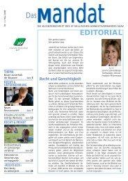 mandat»: Ausgabe 01/2008 - St.Gallischer Anwaltsverband SGAV