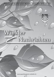 Winkler Nachrichten - Quartierverein Winkeln