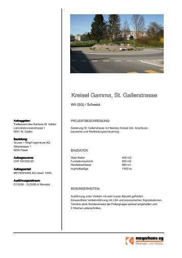 Kreisel Gamma, St. Gallerstrasse - Meyerhans AG