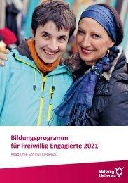 Bildungsprogramm für Freiwillig Engagierte 2021