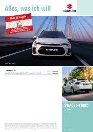SWACE Preise, Ausstattung und technische Daten
