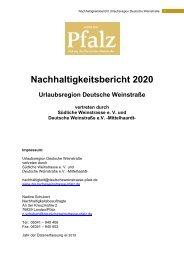 Nachhaltigkeitsbericht der Deutschen Weinstraße