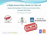 e-flight-forum ONLINE 8.-10. December 2020 English Program