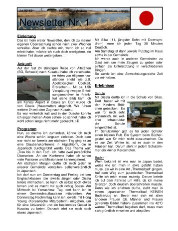 Andrea Newsletter 2012 02