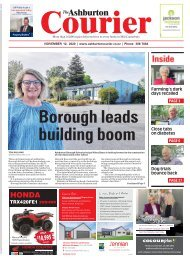 Ashburton Courier: November 12, 2020