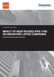 impact of new/ revised ifrs / frs on singapore listed companies