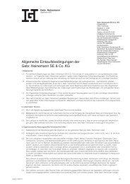 Allgemeine Einkaufsbedingungen der Gebr. Heinemann SE & Co. KG