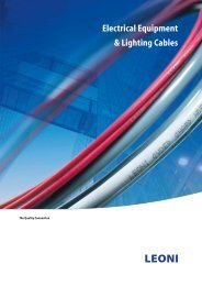 Electrical Equipment & Lighting Cables - Leoni
