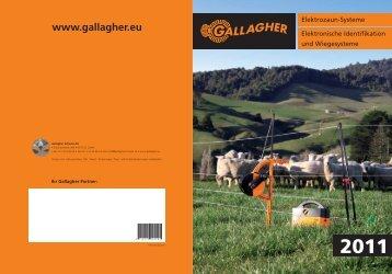 Gallagher Prospekt / Preisliste 2011 - Burgstaller Zäune AG
