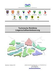 Technische Richtlinie Liegenschaftsentwässerung - AVA-Altenrhein