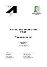 Altlastensymposium 2009 - Tagungsband - ITVA