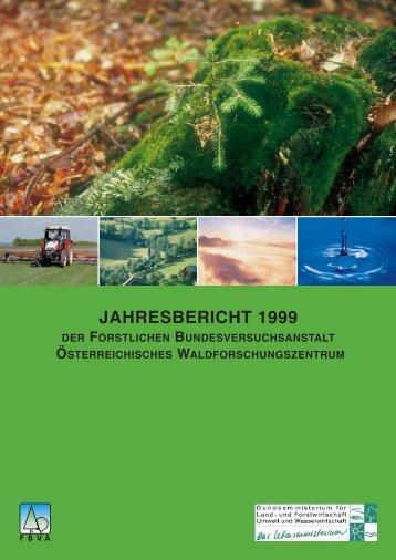 JAHRESBERICHT 1999 - BFW