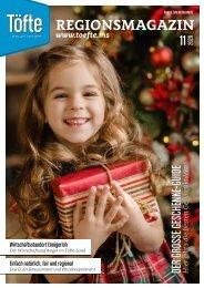 Töfte Regionsmagazin 11/2020 - Willkommen in der Weihnachtszeit