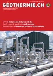SVG/SSG Geotechnik und Geothermie im Dialog ... - Geothermie.ch