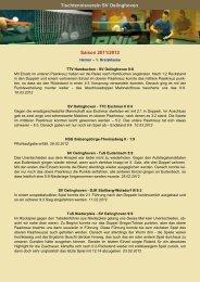 Berichte Saison 2011/2012 - TT SV Oelinghoven