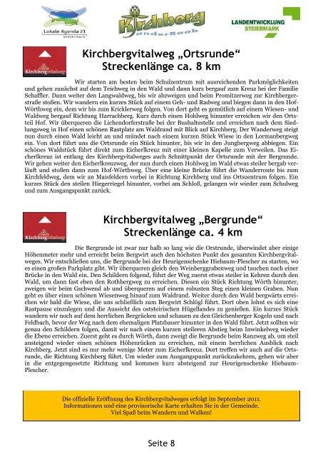Meister 2011 - Gemeinde Kirchberg an der Raab