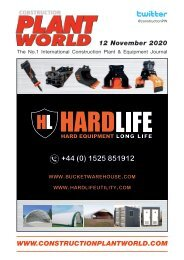 Construction Plant World - 12th Novermber 2020