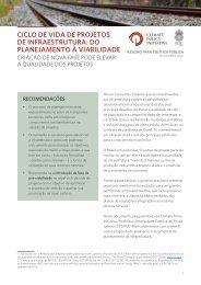 PB - Ciclo de vida de projetos de infraestrutura - do planejamento a viabilidade
