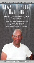 Edward Harrison Funeral Program