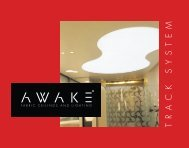 AWAKE Track: Lightweight & Durable PVC Profile System for Fabric Ceilings and Walls