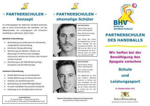 partnerschulen des handballs - Badischer Handball-Verband
