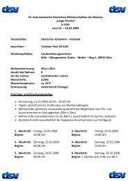 Wettkampf 1 - TSV Lindau 1850 e.V. - Abteilung Schwimmen