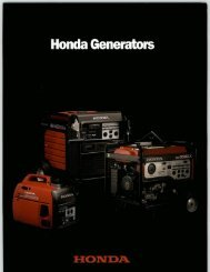 Honda Generators - SGS Industrial Supplies
