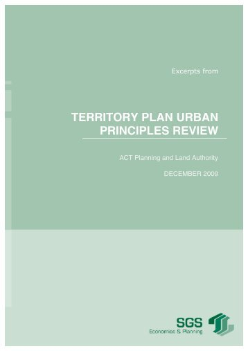 territory plan urban principles review - ACT Planning and Land ...